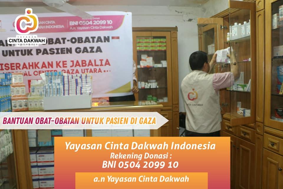 Bantuan obat-obatan untuk pasien gaza